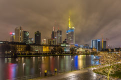 Frankfurt am Main at night, Germany Royalty Free Stock Photography