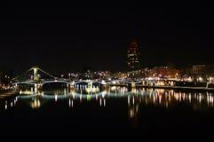 Frankfurt am Main by night Stock Photography