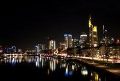 Frankfurt am Main by night Royalty Free Stock Photos