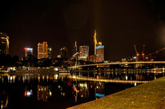 At Frankfurt Main at night, Royalty Free Stock Image