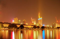 At Frankfurt Main at night, Stock Image