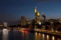 Frankfurt am Main in night lights Stock Photo