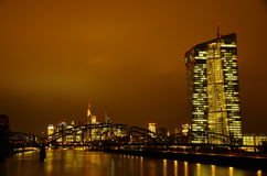 Frankfurt am Main at night Stock Photo