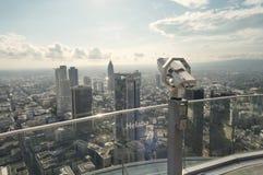 Frankfurt am Main panoramic photograh stock images