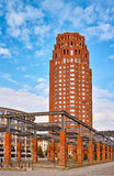 Frankfurt Main Plaza Royalty Free Stock Image