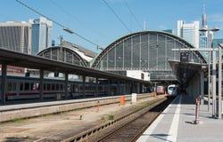 Frankfurt main railway train station Royalty Free Stock Photos