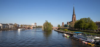 Frankfurt and the main river in spring Stock Photography