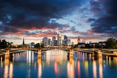 Frankfurt am Main Skyline. During summer Royalty Free Stock Image
