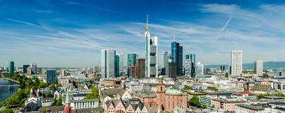 Frankfurt am Main Skyline. During summer Royalty Free Stock Photography