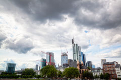 Frankfurt am Main skyline Royalty Free Stock Image