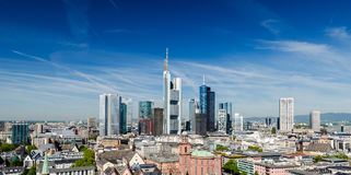 Frankfurt am Main Skyline. During summer Stock Images