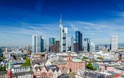 Frankfurt am Main Skyline. During summer Stock Image