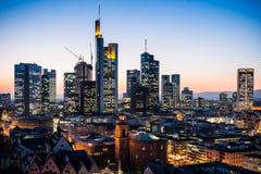 Frankfurt am Main Skyline. During summer Royalty Free Stock Images