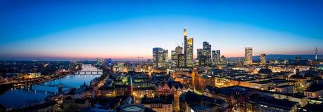 Frankfurt am Main Skyline. During summer Royalty Free Stock Photo