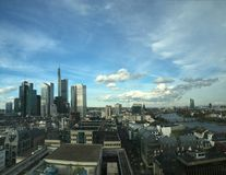 Frankfurt am main skyline view daytime Stock Images