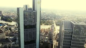 Frankfurt-am-Main skyview stock foto's