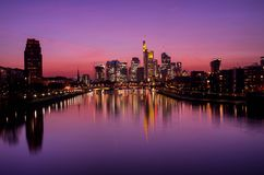 Frankfurt am Main at sunset Royalty Free Stock Images