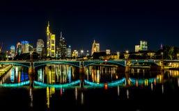 Frankfurt am Main during sunset Stock Photos