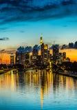 Frankfurt am Main during sunset Royalty Free Stock Images