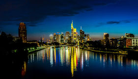 Frankfurt am Main during sunset Royalty Free Stock Photography