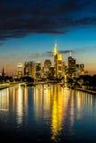Frankfurt am Main during sunset Royalty Free Stock Photo
