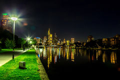 Frankfurt am Main during sunset Royalty Free Stock Photos