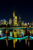 Frankfurt am Main during sunset Stock Photography