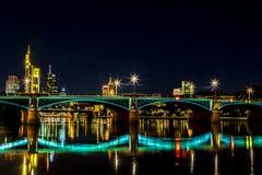 Frankfurt am Main during sunset Royalty Free Stock Image