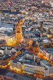 Frankfurt am Main in the twilight Stock Image