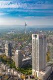 Frankfurt am Main. View over Frankfurt financial district Stock Photography