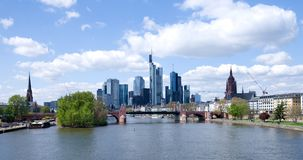 Frankfurt am Maine cityscape Royalty Free Stock Photography
