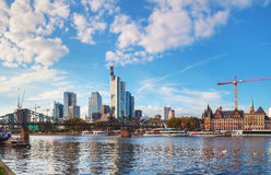 Frankfurt am Maine cityscape on a sunny day Royalty Free Stock Photos