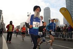 frankfurt maraton Royaltyfri Fotografi