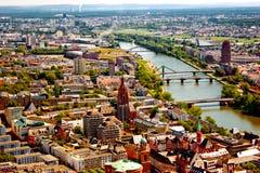 Frankfurt am Mein bird's eye view Stock Photos