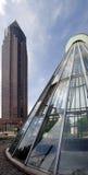 Frankfurt Messe und Ubahn Station lizenzfreie stockbilder