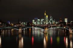 Frankfurt miasta linia horyzontu Zdjęcia Stock