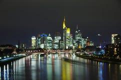Frankfurt miasta linia horyzontu Obraz Royalty Free