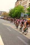 Frankfurt miasta pętli kolarstwo Zdjęcia Stock