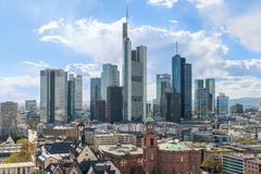 Frankfurt am Mine Skyscraper skyline building in Frankfurt, Germany Royalty Free Stock Photo