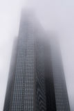 Frankfurt Modern Architecture Tower Rising Mist Fog Clouds Royalty Free Stock Images