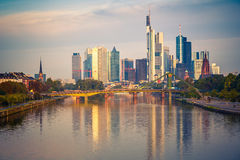 Frankfurt at morning Royalty Free Stock Images