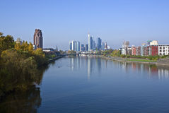 Frankfurt in the morning Royalty Free Stock Photos