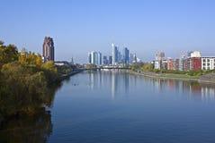 Frankfurt in the morning Royalty Free Stock Photos
