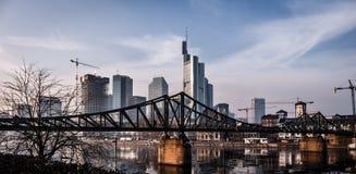 Frankfurt Niemcy, Mainhattan, - Zdjęcie Royalty Free
