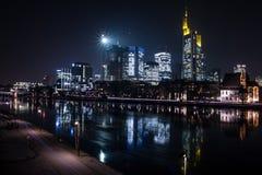 Frankfurt, Niemcy nocą Obraz Royalty Free