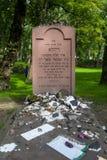 Frankfurt Niemcy, Sierpień, - 20: Nagrobek na Starym Żydowskim cmentarzu na Sierpień 20, 2017 wewnątrz w Frankfurt Obraz Royalty Free
