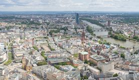 Frankfurt Niemcy widok z lotu ptaka Zdjęcia Stock