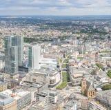 Frankfurt Niemcy widok z lotu ptaka Zdjęcie Royalty Free