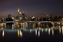 Frankfurt at night Royalty Free Stock Images