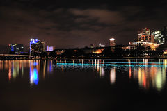 Frankfurt by night Stock Images